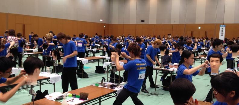 第6回理容美容学生技術九州地区大会がありました。